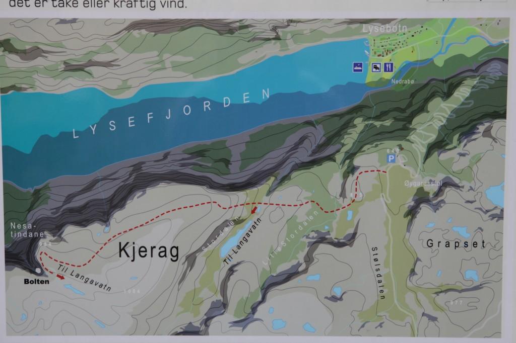 kjerag bolt map lysefjord