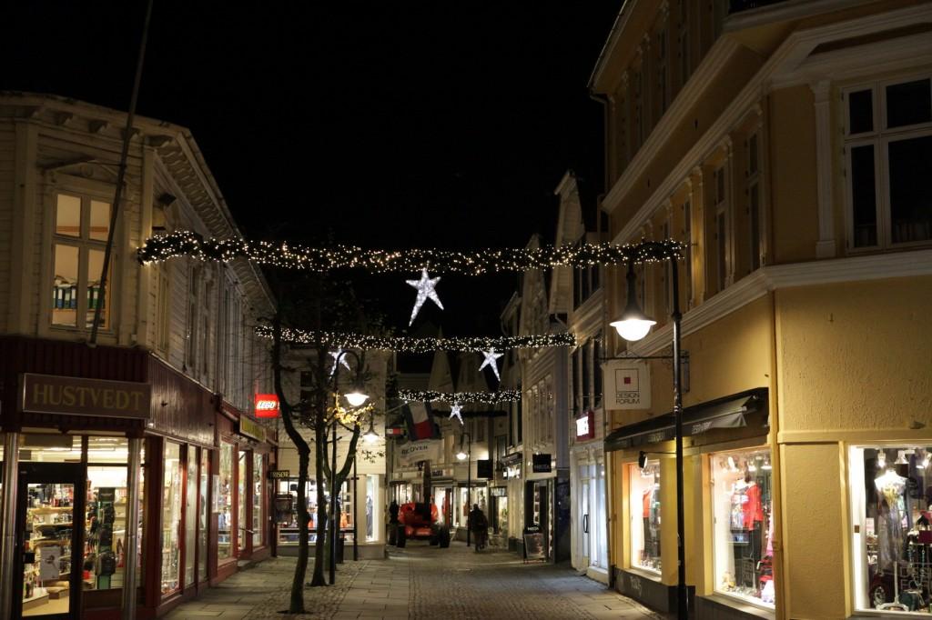 Stavanger City Center - Christmas lights on 07