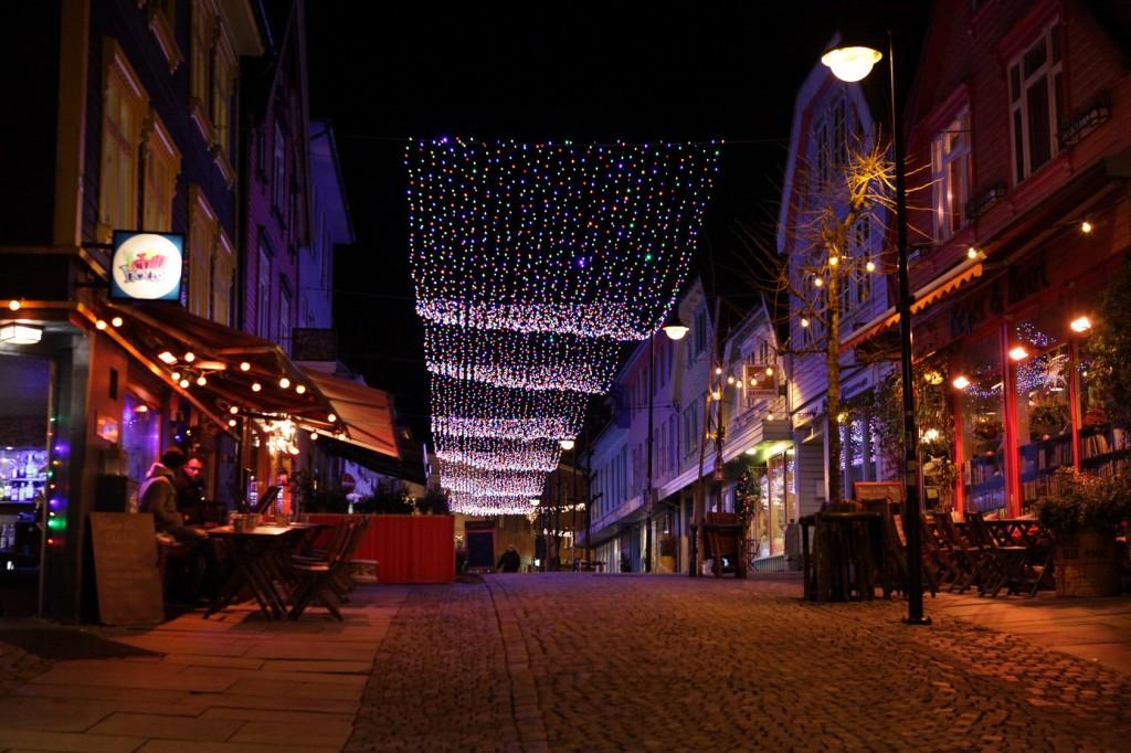 Stavanger City Center - Christmas lights on 09