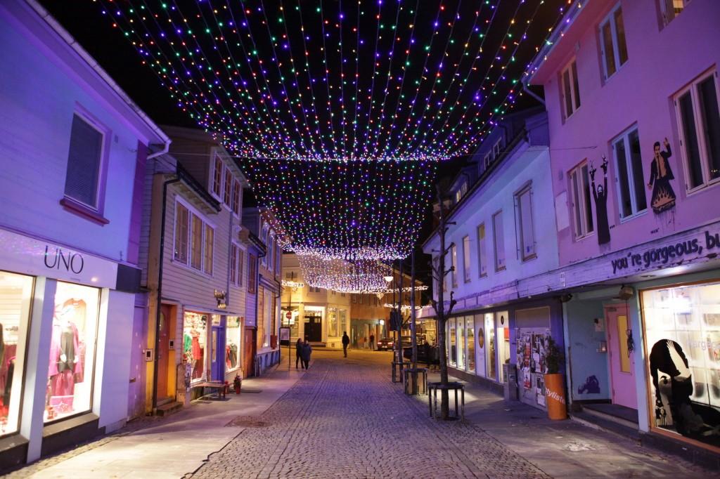 Stavanger City Center - Christmas lights on 12