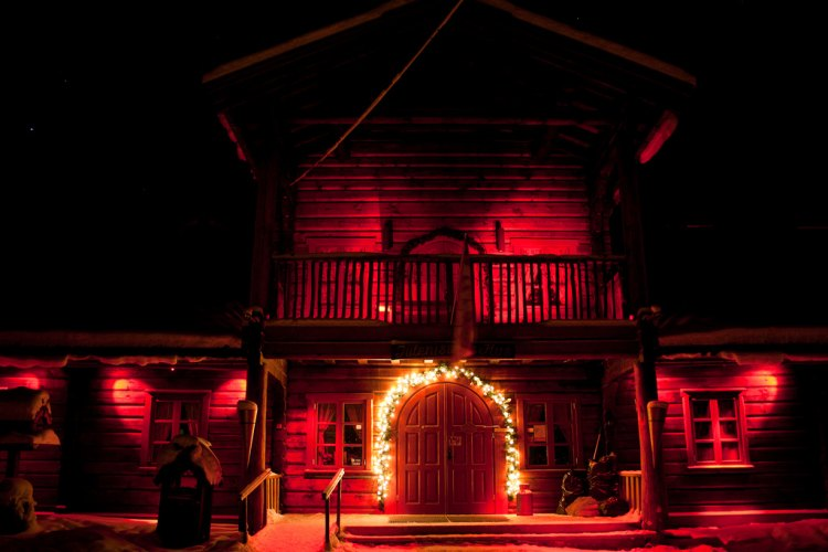 Santa's House at night